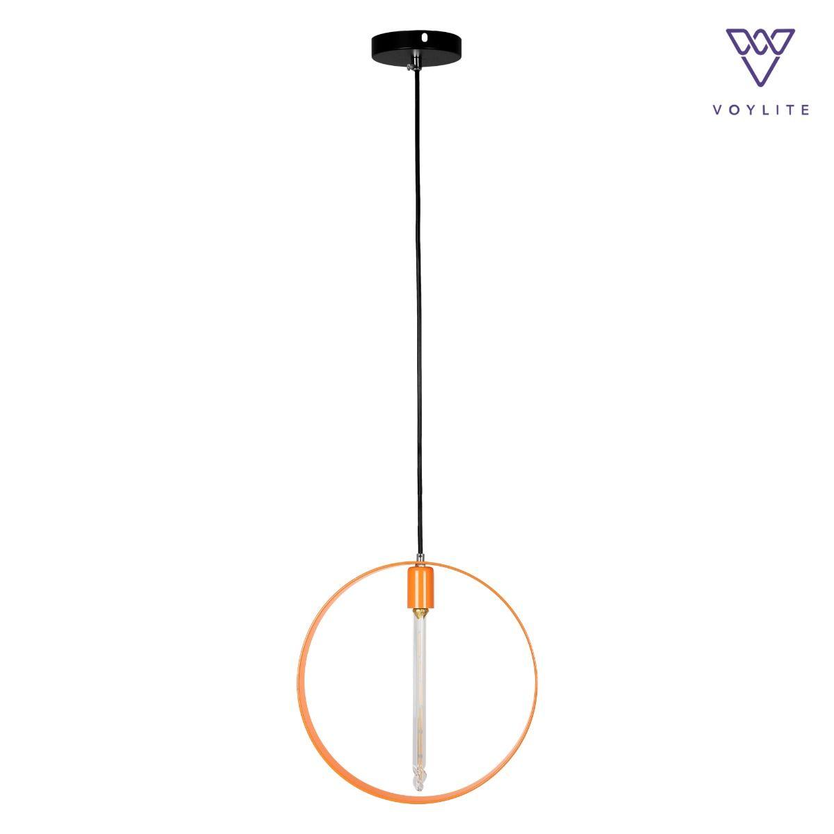 Rigido Circle Orange Pendant
