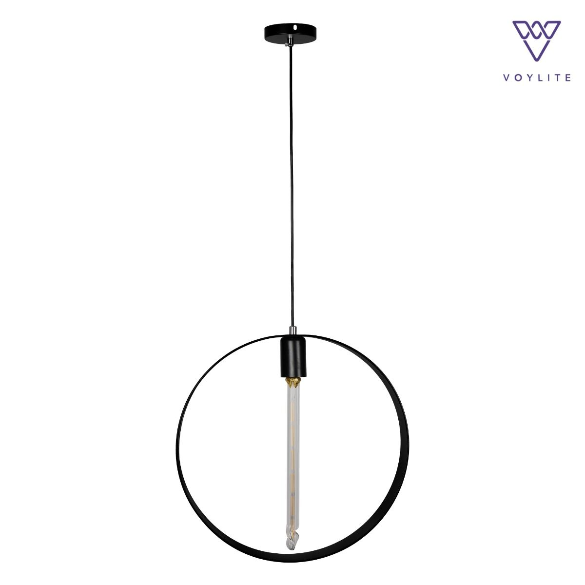 Rigido Circle Black Pendant