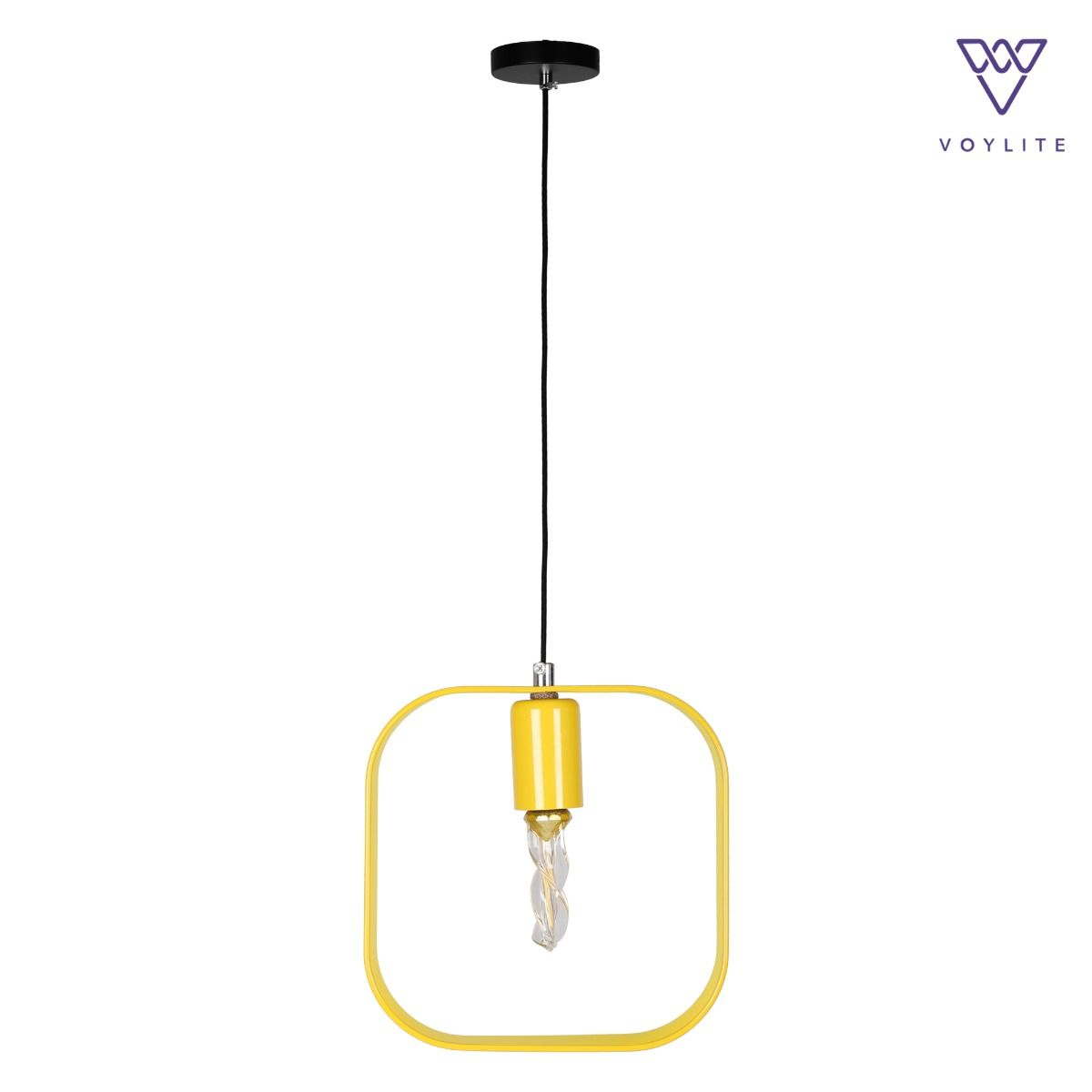 Rigido Square Yellow Pendant