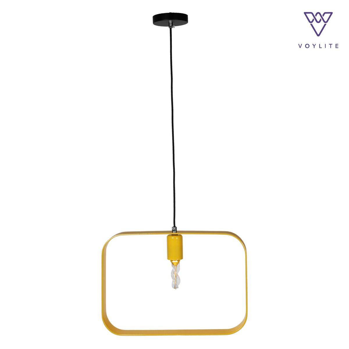 Rigido Rectangle Yellow Pendant
