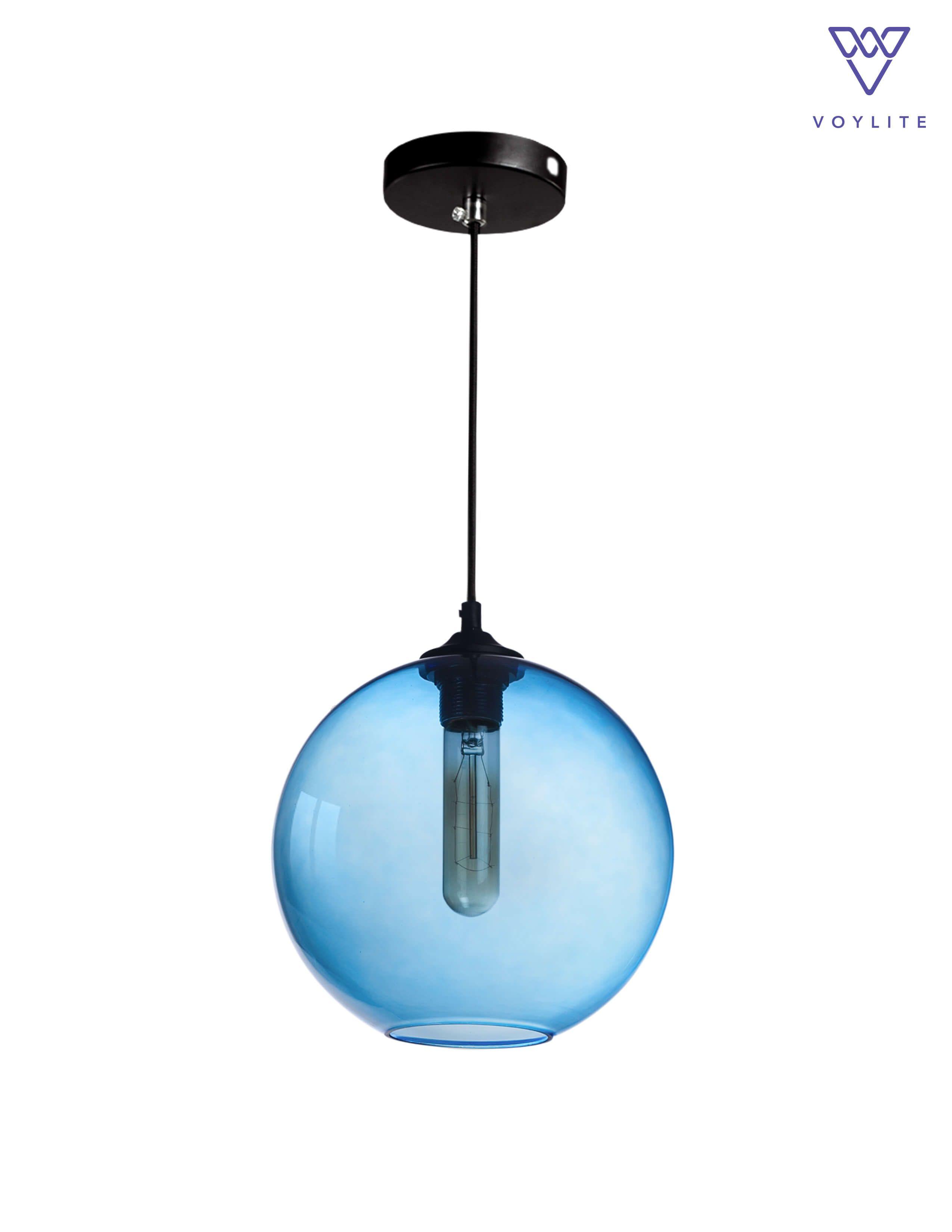 Ethereal Blue Globe Pendant