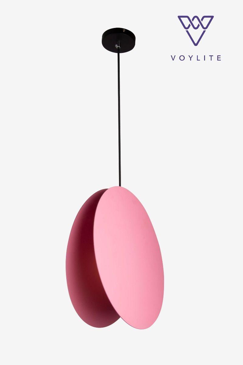 Delecto Pink Disc Pendant (L)