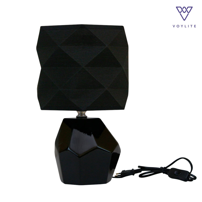 Tissu Black Table Lamp