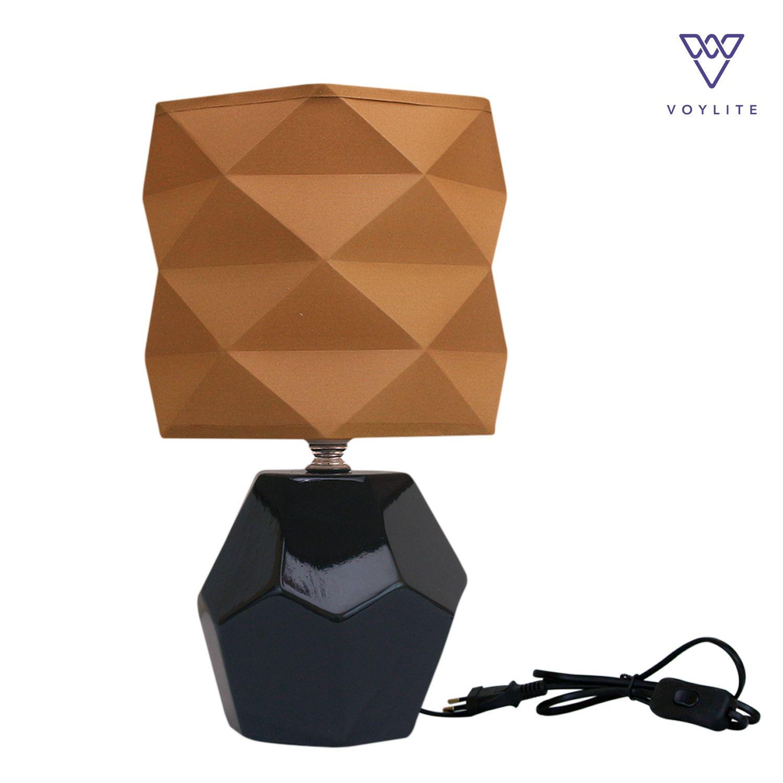 Tissu Brown Table Lamp