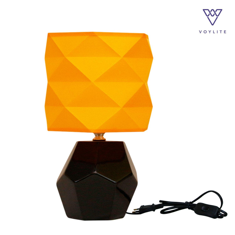 Tissu Orange Table Lamp