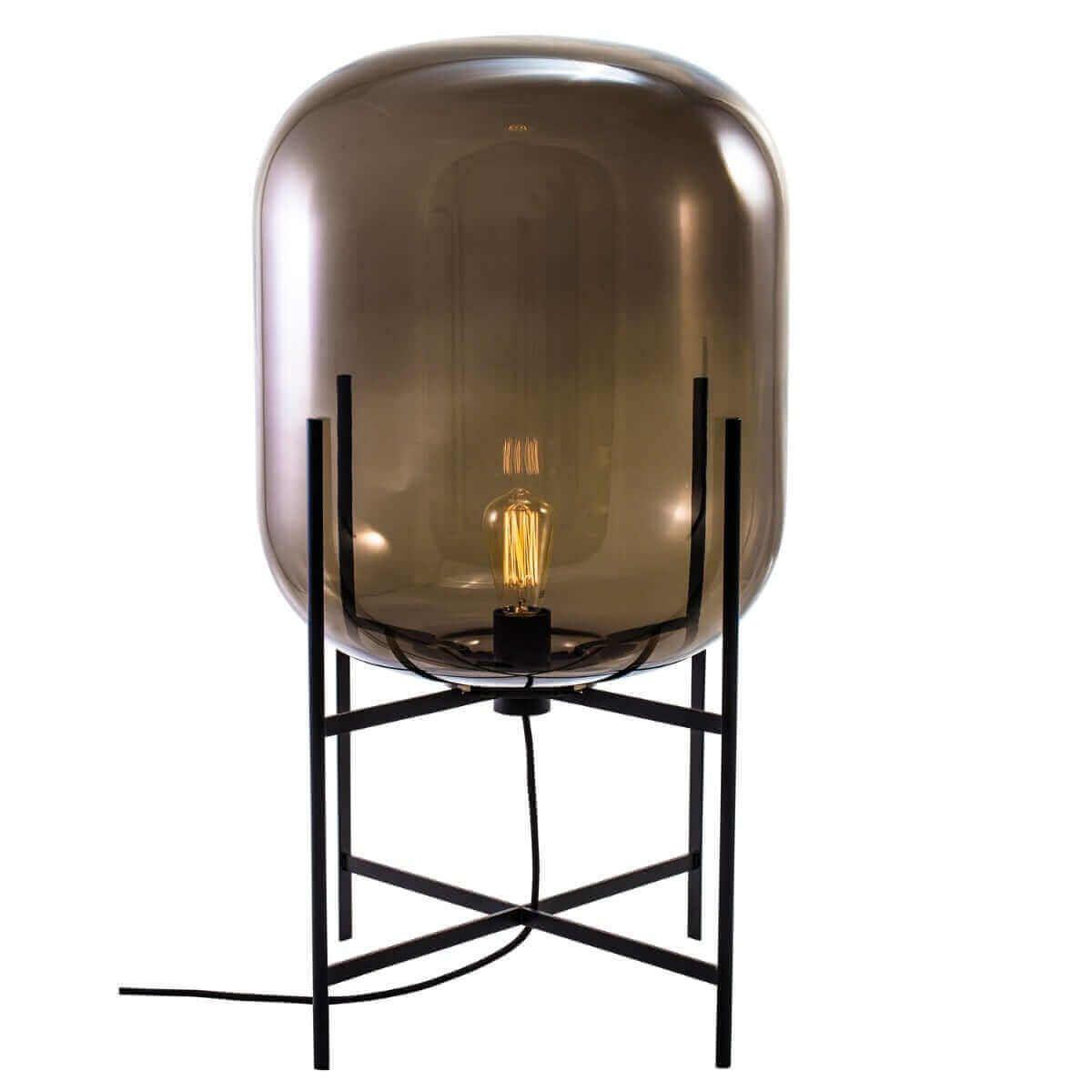 Zuzi Grey Table Lamp