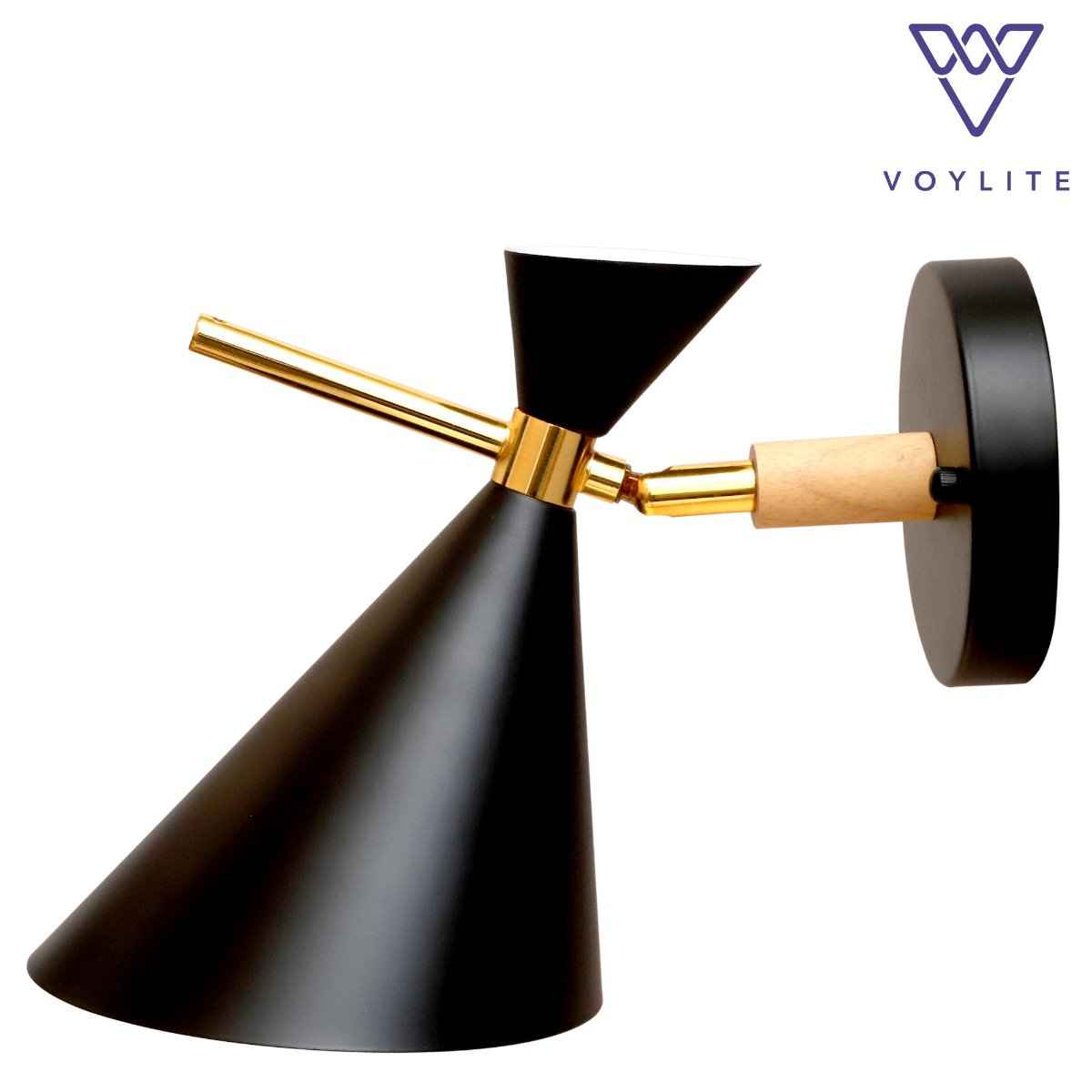 Hourglass Black Wall Lamp